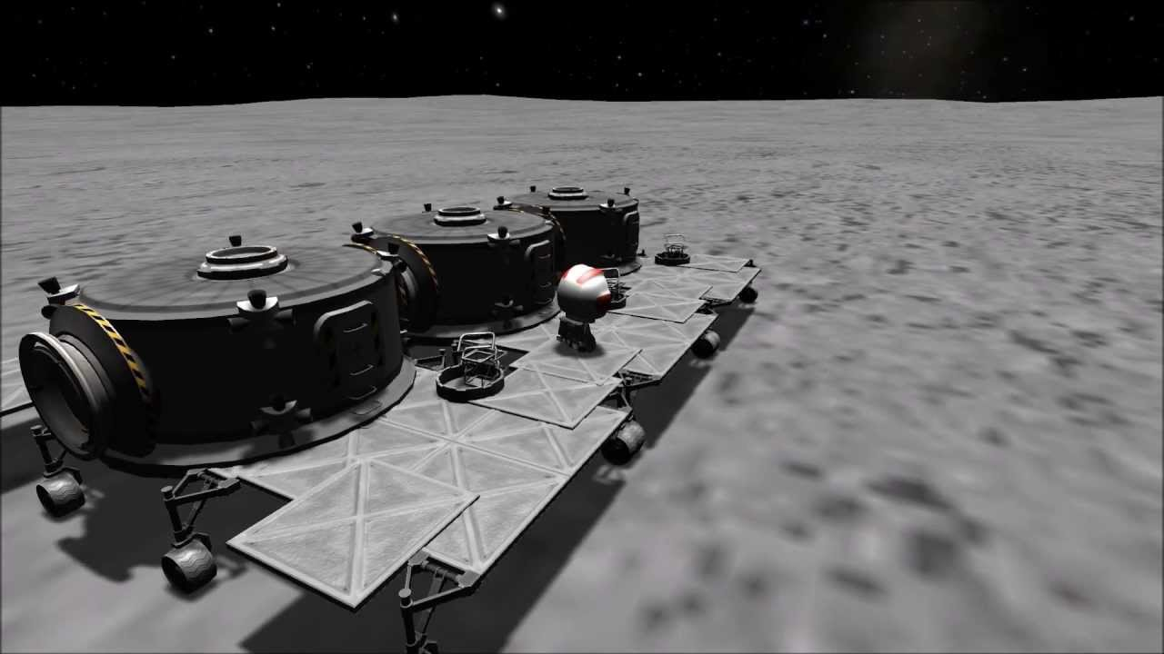 Kerbal Space Program : Building The Mun Base (Part 1 ...
