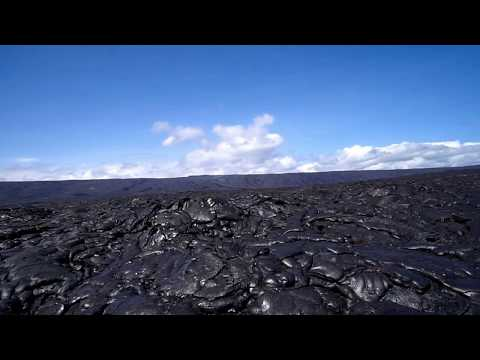 Hiking 14 Miles Across the Active Lava Field at Volcanoes National Park, Hawaii