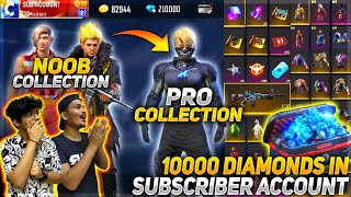 We Gifted Our Subscriber 10000 Diamonds || And Bought All Rare Bundles and Items In His Account