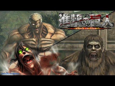 Armored Titan vs Ape Titan & Eren Boss Battle ATTACK on ...