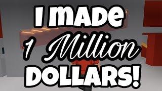 EU FIZ 1 MILHÃO DÓLARES SEM TERMINAR MEU TURNO EM BLOXBURG | Bloxburg Jobs | Roblox