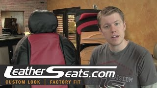 2004 - 2006 Pontiac GTO Black & Red Leather upholstery kit in a 1969 Firebird - LeatherSeats.com