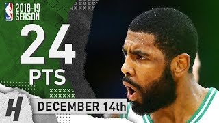 Kyrie Irving Full Highlights Celtics vs Hawks 2018.12.14 - 24 Pts, 5 Ast, 5 Rebounds!