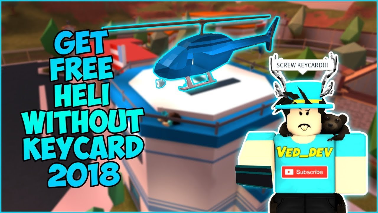 ROBLOX JAILBREAK HOW TO GET HELICOPTER WITHOUT KEY CARD ...