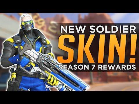 Overwatch: NEW Soldier Skin! - Season 7 REWARDS & Start Date