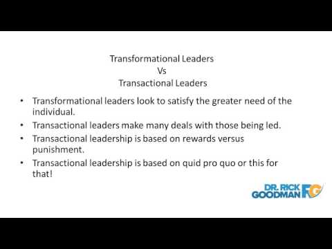Transformational Leadership | Innovative Solutions for Managing the Workforce | Dr Rick Goodman