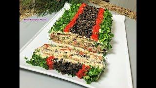 Новогодняя Закуска КРАСОТКА. Вкусная  Идея для праздничного стола.