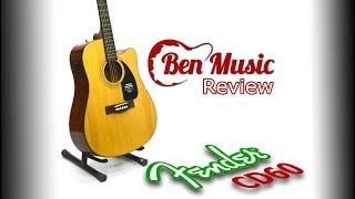 Ben Musicᴴᴰ - Fender CD60 Acoustic Guitar Review (বাংলা)