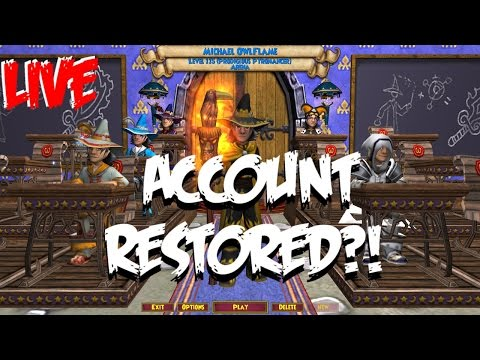 Wizard101 LIVE: ACCOUNTS RSTORED?!