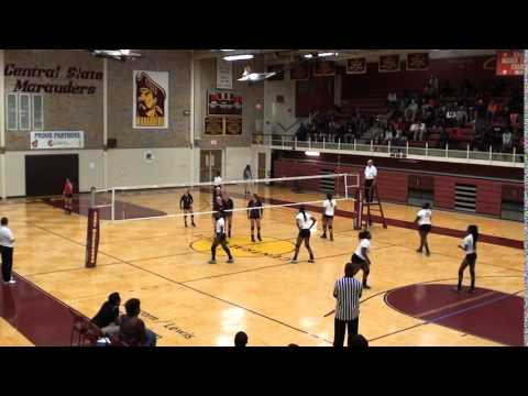 Central State University's Women's Volleyball Team September 16th, 2014