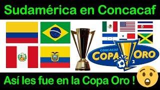 Sudamericanos jugando la Copa Oro Concacaf