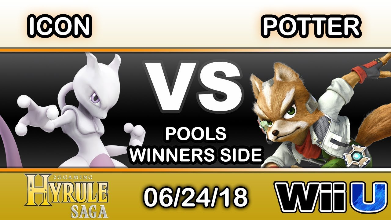 Hyrule Saga Icon Mewtwo Vs Potter Fox Pools Smash 4 Youtube