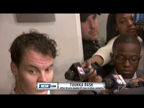 Tuukka Rask responds to Bruins loss to Blue Jackets in double OT