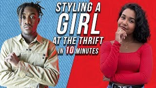 STYLING A GIRL AT THE THRIFT (IN 10 MINUTES) | Women's Streetwear and Fashion Outfit Challenge