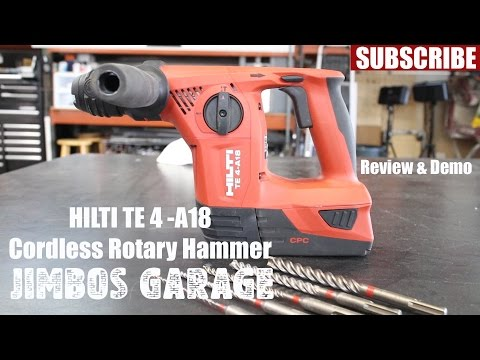 Hilti Cordless Rotary Hammer TE 4 -A18 and Bits