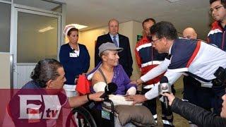 Enfermera del Hospital Infantil de Cuajimalpa agradece a camilleros que la rescataron