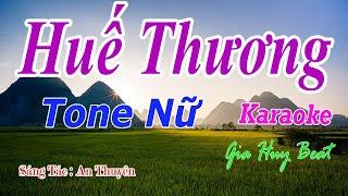 Huế Thương - Karaoke - Tone Nữ - Nhạc Sống - gia huy beat