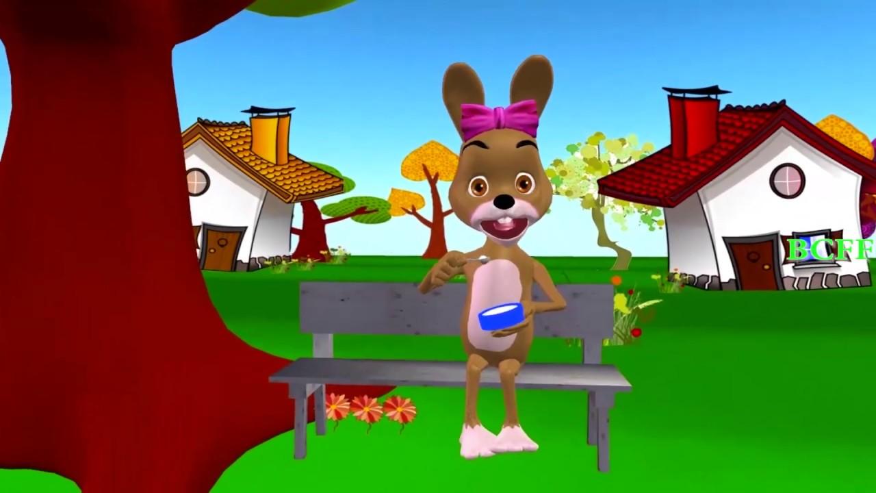 Rabbit Finger Family Cartoons For Kids - Rain Rain Go Away Nursery Rhymes & Kids Songs
