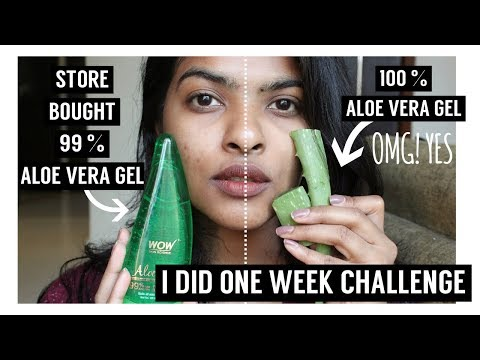 100 % Natural ALOE VERA VS Store Bought 99% ALOE VERA || One Week Challenge