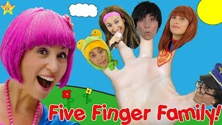 Daddy Finger Family Song - Five Finger Dress Up | Rhymes For Children - Debbie Doo!