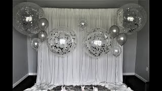 Confetti Balloon Backdrop DIY | How To Make Confetti Stick To Your Balloon