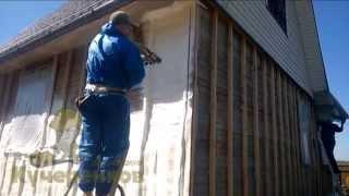 Чем утеплить щитовой домик перед обшивкой сайдингом(http://www.kucherenkoff.ru/uteplenie-domov/ Как утеплить дом под сайдинг. Утепление проводится с помощью напыляемого пенополиу..., 2014-05-20T16:31:10.000Z)