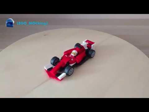 Lego Ferrari F1 2017 Car Instructions Moc 10 Youtube