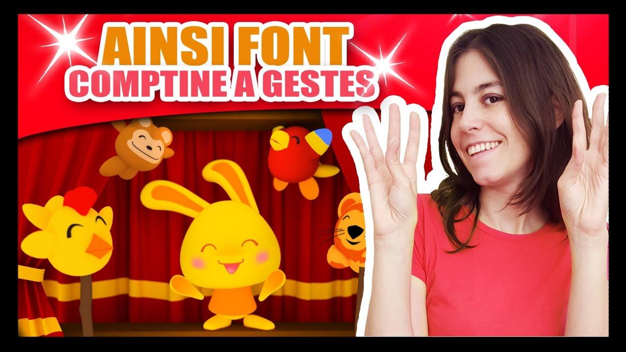 Ainsi Font Font Font Les Petites Marionnettes Comptines à Gestes Méli Et Touni Titounis Youtube