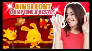 Ainsi Font Font Font les Petites Marionnettes - Comptines à gestes Méli et Touni - TITOUNIS