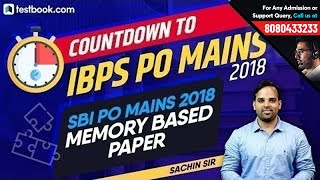 IBPS PO Mains 2018 | 4 X 4 Matrix Based Pattern | SBI PO Memory Based Paper | Solve with Sachin Sir