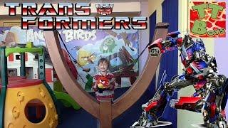 ? Трансформеры. Оптимус Прайм c Игорьком прогулка в Игровой Центр / Transformer OPTIMUS PRIME ?