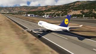 Amazing Aspen Take Off Lufthansa 747-400 ++ Aerofly FS 2