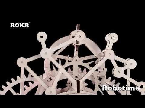 DIY Gear Drive Pendulum Clock by Clockwork 3D Wooden