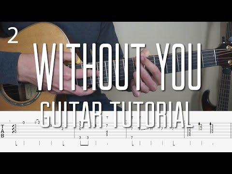 Avicii - Without You - Fingerstyle Guitar Tutorial Part 2 (lesson) Free Tabs by Mattias Krantz