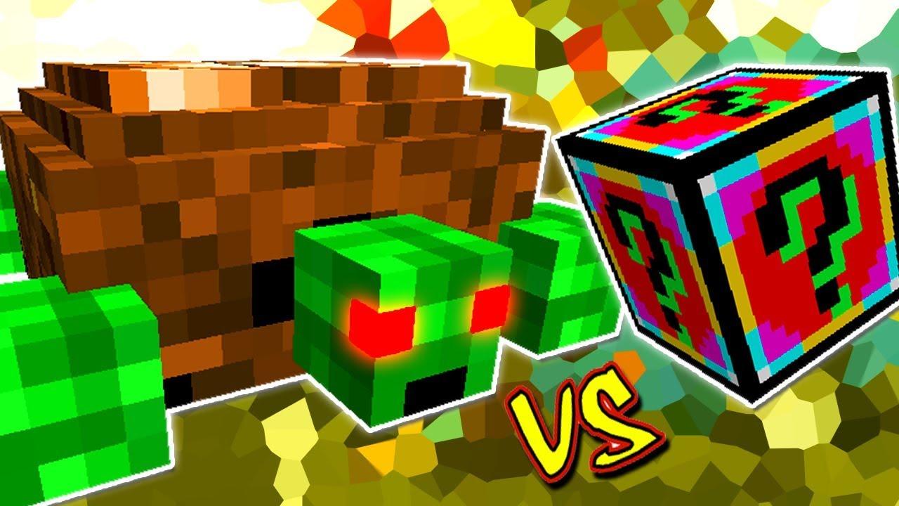Tartaruga Gigante Vingativa Vs Lucky Block Powered Minecraft