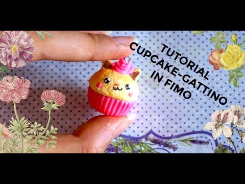 Fimo Fiore98j.Tutorial Fimo Cupcake Gattino Super Kawaii Youtube