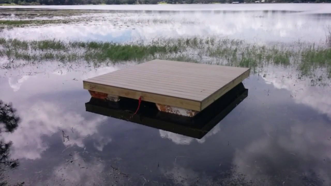 Building A Diy 8x8 Floating Dock Section With Foam Floats