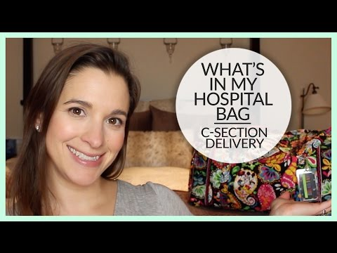 What's In My Hospital Bag | C Section Delivery | January 2016
