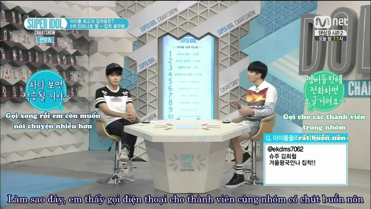 Vietsub 140808 Myungsoo L Cut And Phone Call Super