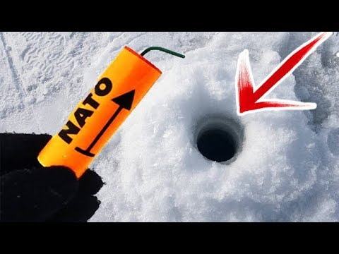 EXPERIMENT MAKE HOLES IN SNOW WITH FIRECRACKERS