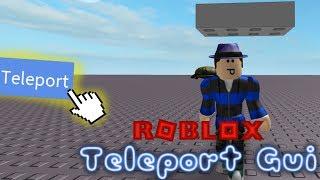 Teleport Gui / ROBLOX Tutorial [R15 & R6]