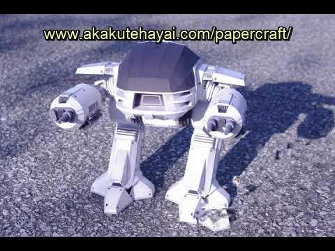 Papercraft 映画『ロボコップ』の『ED-209』ペーパークラフト [ ROBOCOP ED-209 PAPER MODEL ]