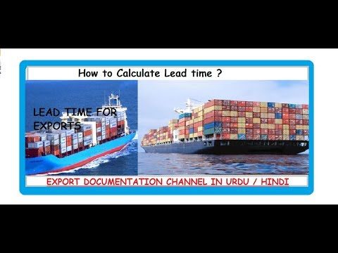 S # 88 How to Calculate Lead time for Exports, in Urdu / Hindi