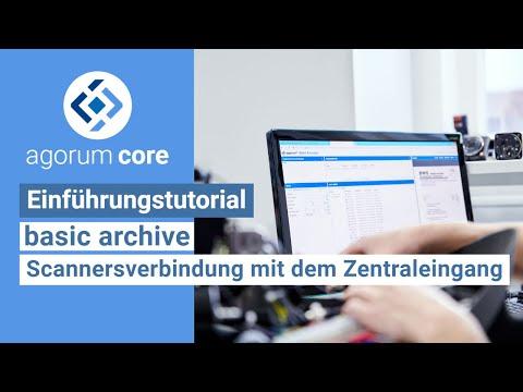Wie verbindet man einen Scanner mit dem Zentraleingang des Basic Archives?