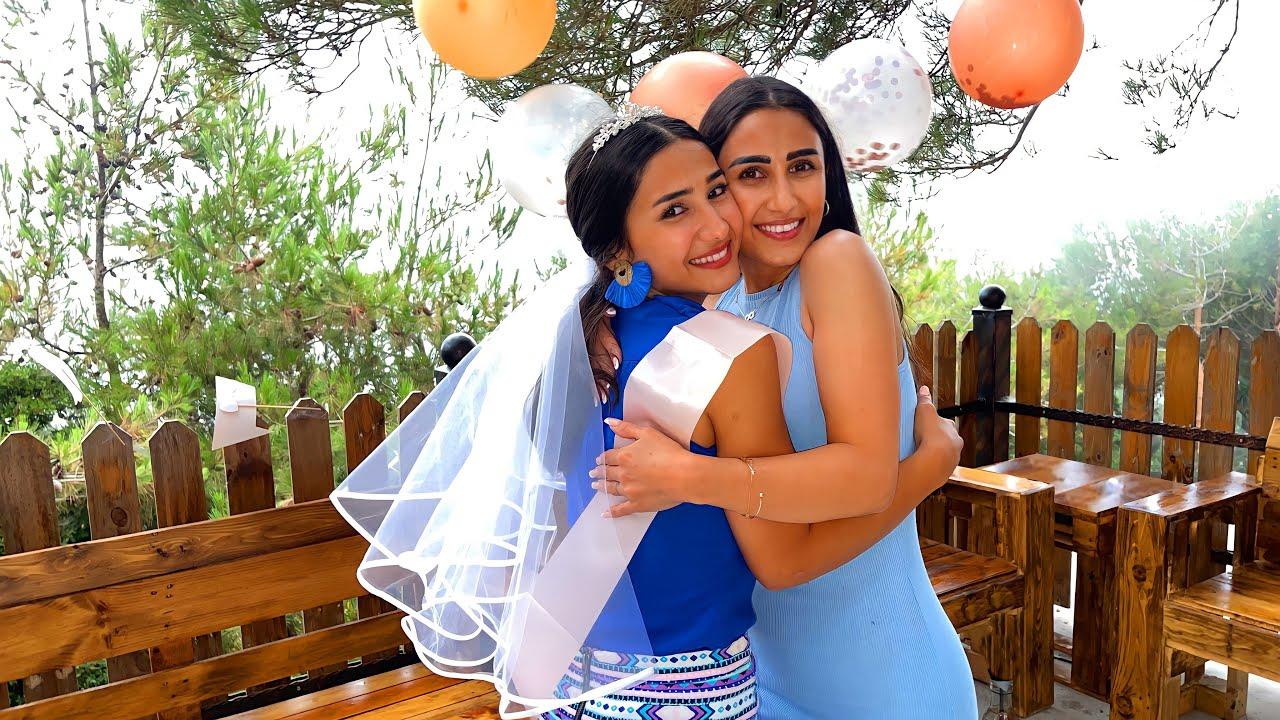 فاجأت أختي ب حفلة وداعية العزوبيه 🥳👰 (رح تتزوج)