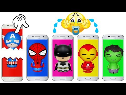 Thumbnail: Phone Wrong Heads Bad Baby Crying Super Heroes Colors Learn