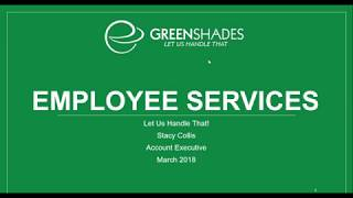 Greenshades Software - Payroll and HR for your Business - March 8, 2018 Webinar