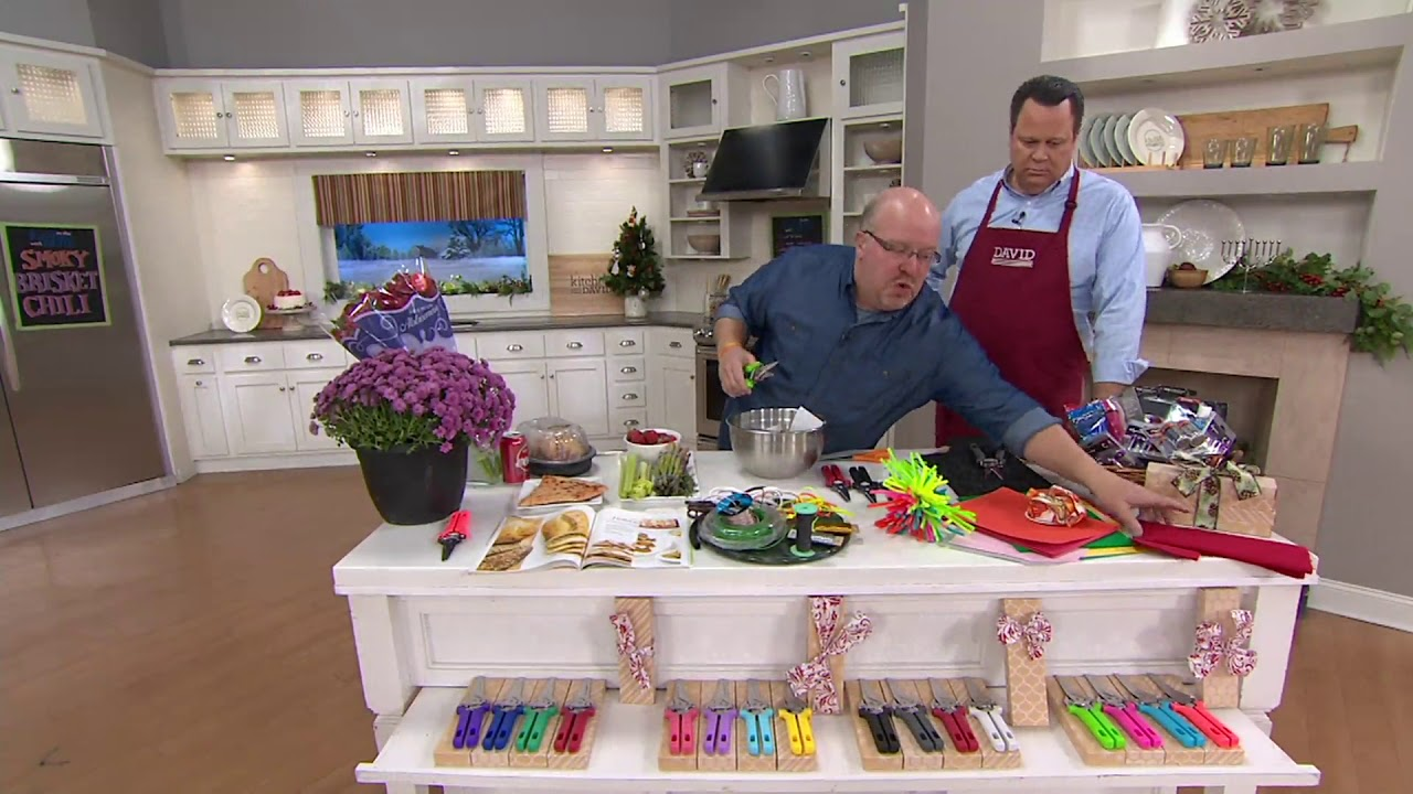 Kuhn Rikon Set Of 4 Kitchen Shears With Gift Boxes On Qvc Youtube