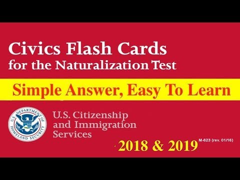 100 Civics Questions With ONE SINGLE ANSWER For U.S. Citizenship Test 2018. (SIMPLE ANSWER FORMATS)