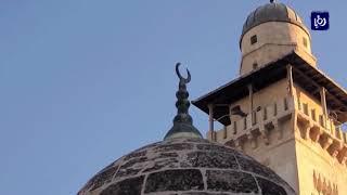 استئناف أعمال الترميم في الحرم القدسي الشريف - (19-1-2018)
